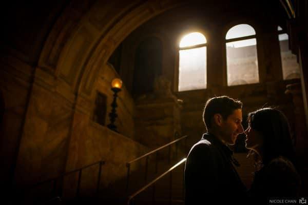 Boston Public Library engagement session photos