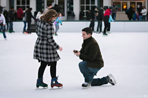 Boston Commons Frog Pond wedding proposal photos
