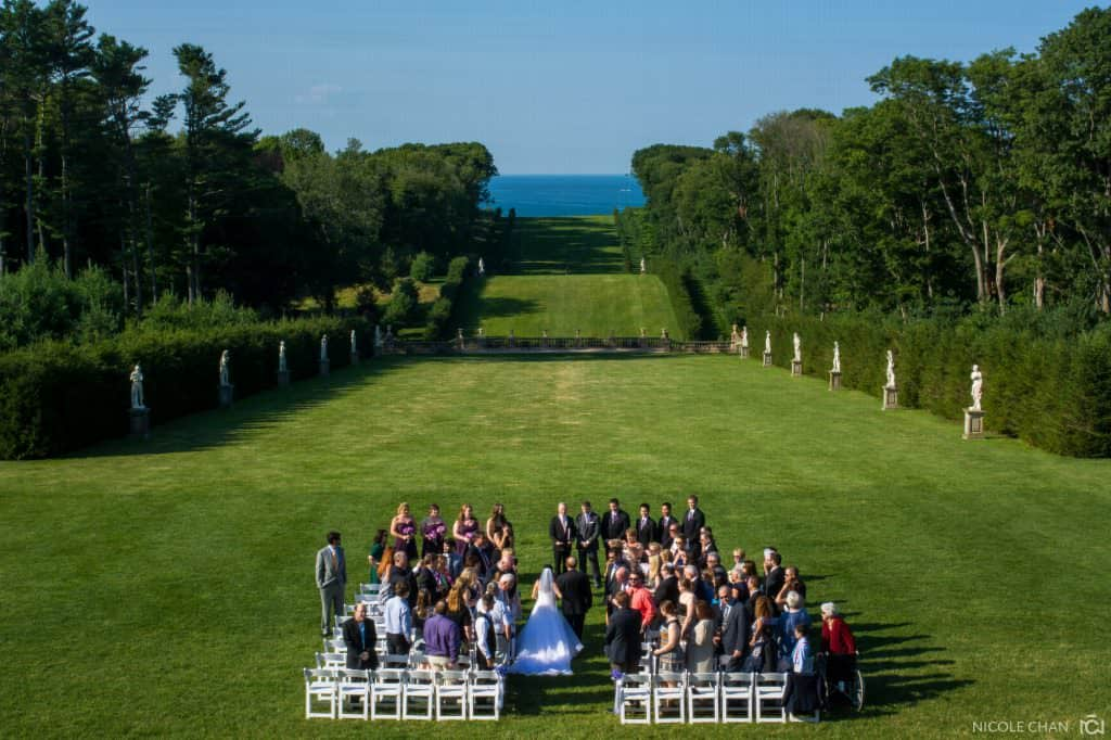 Crane Estate outdoor wedding photos in Ipswich, MA