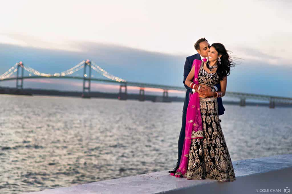 Colorful and outdoor Belle Mer Indian wedding in Newport, Rhode Island