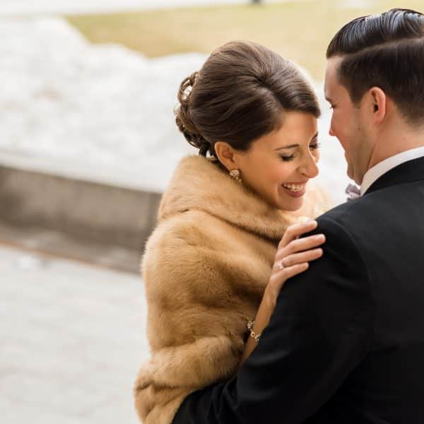 Boston Fairmont Copley wedding photos for Katie and Jamie's elegant and winter wedding day