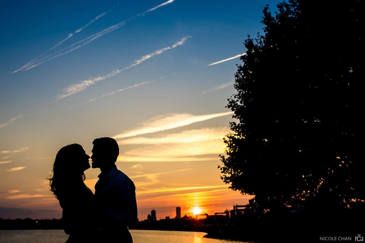 Castle Island  engagement session photo