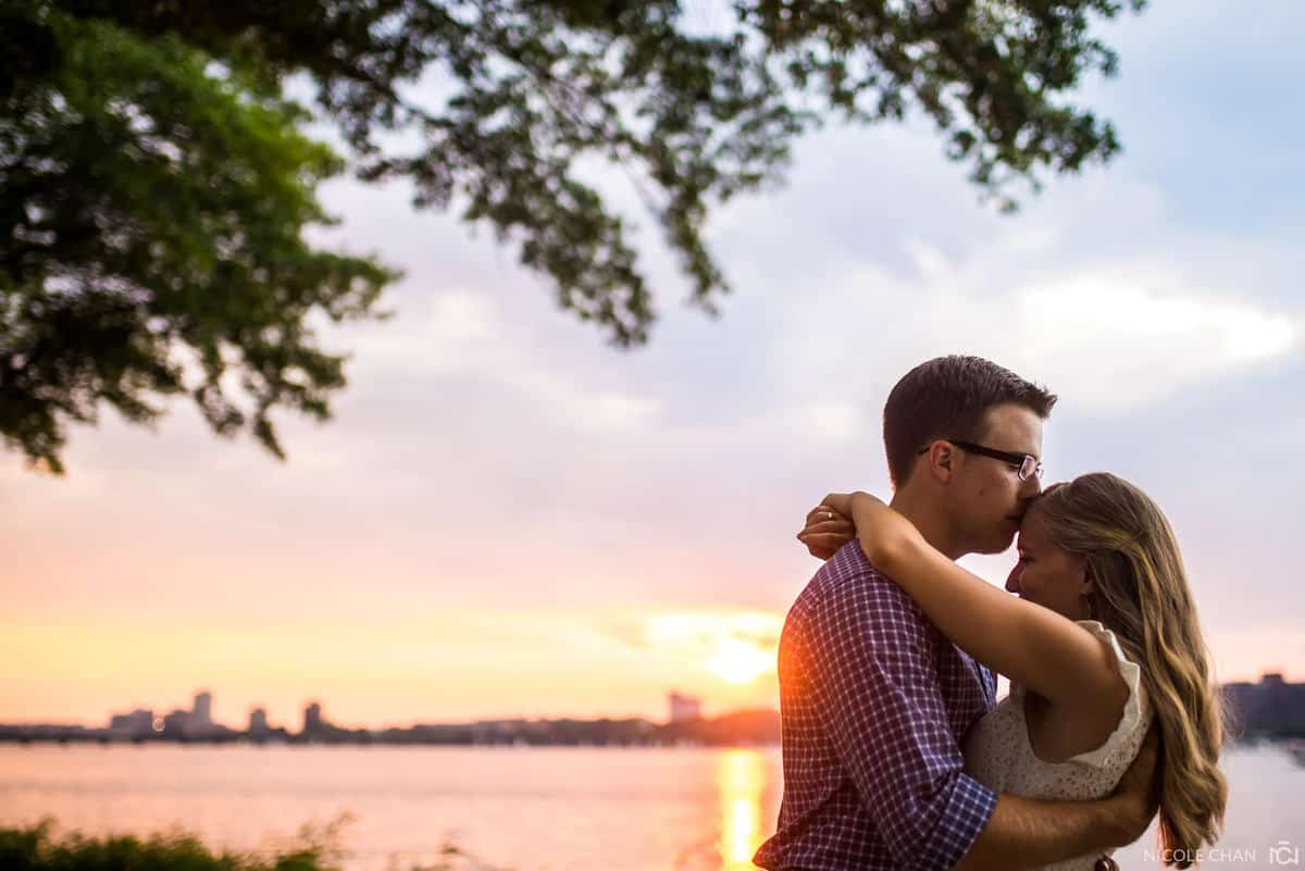 Charles River engagement session photos