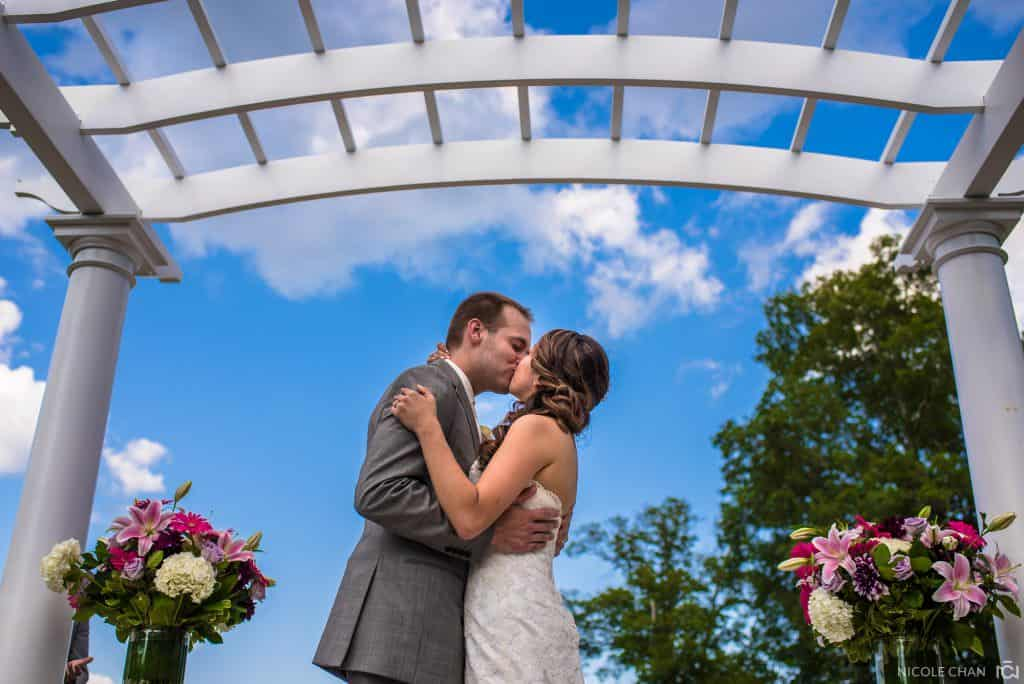 The Villa outdoor wedding photos in East Bridgewater, MA