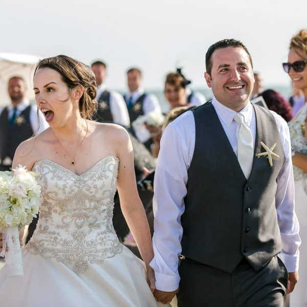 Wychmere wedding on the beach in Harwich Port, MA