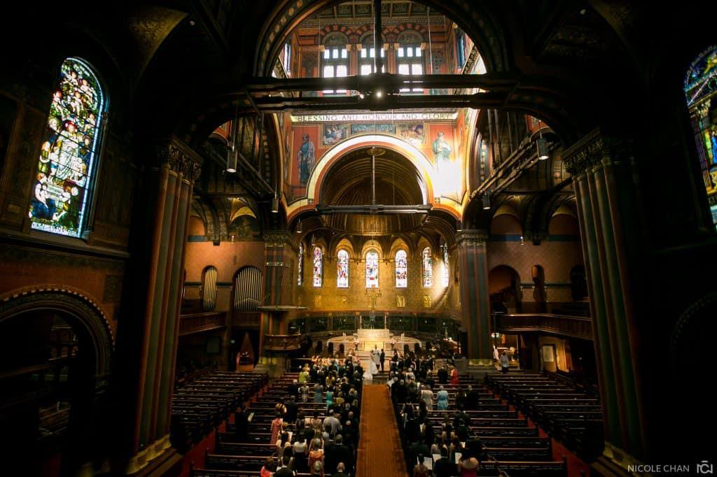 Boston Trinity Church wedding ceremony photos and Fairmont Copley multicultural wedding reception photos
