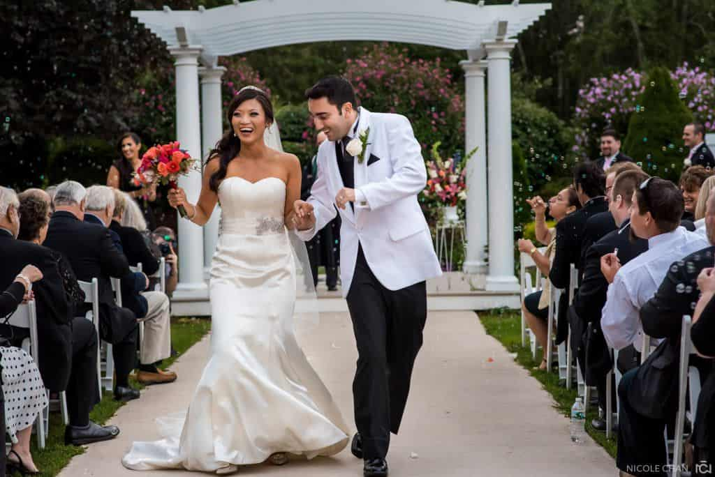 Multi-cultural Outdoor wedding at The Villa in East Bridgewater, MA