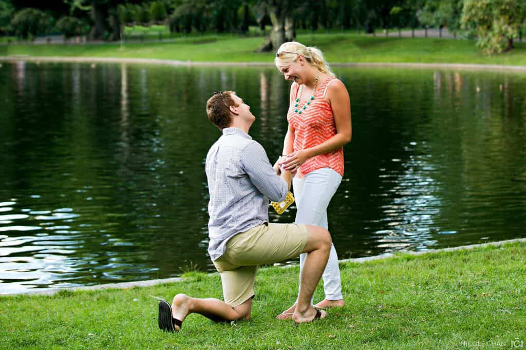Boston Commons marriage proposal photographer