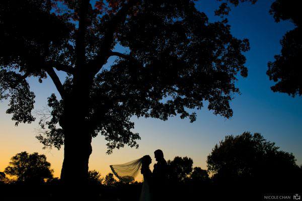 Easton Country Club fall foliage wedding photos in Easton, MA