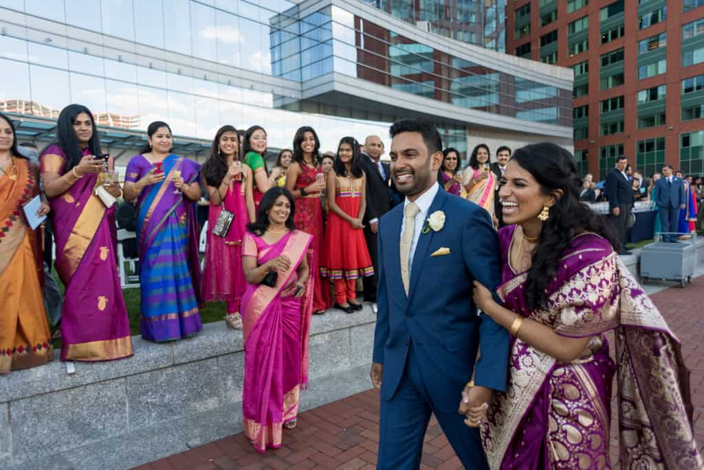 Indian Boston InterContinental Hotel ballroom wedding