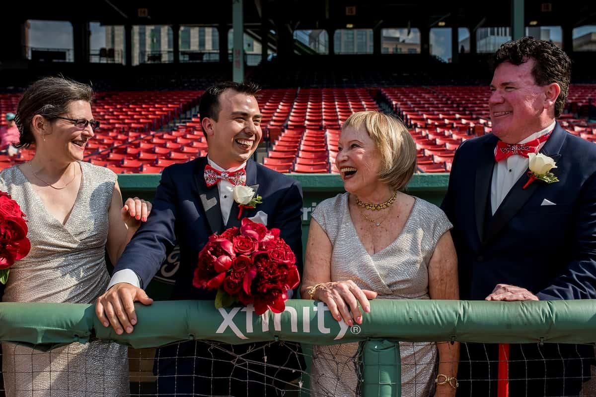 Boston Fenway Park wedding photos