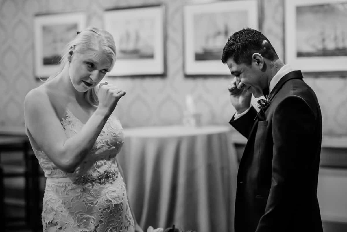 winter boston harbor hotel wedding - julie and yimi