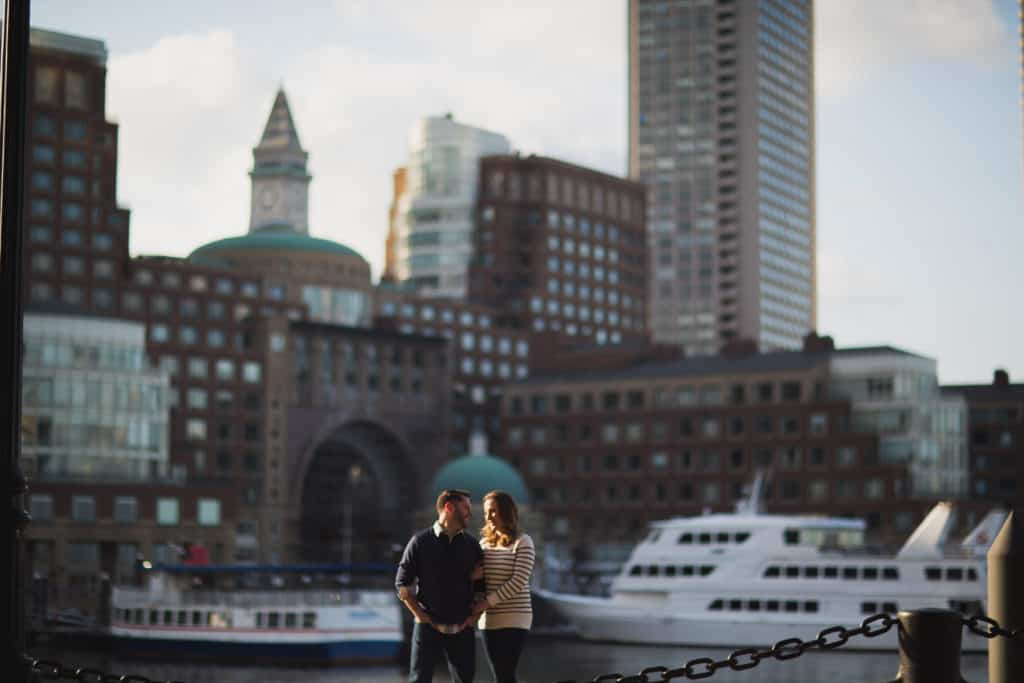 Fan Pier Harborwalk engagement session photos