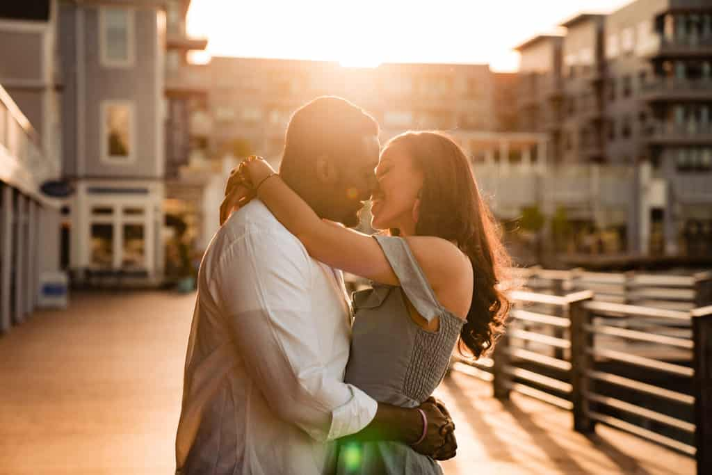 Marina Bay engagement session photo
