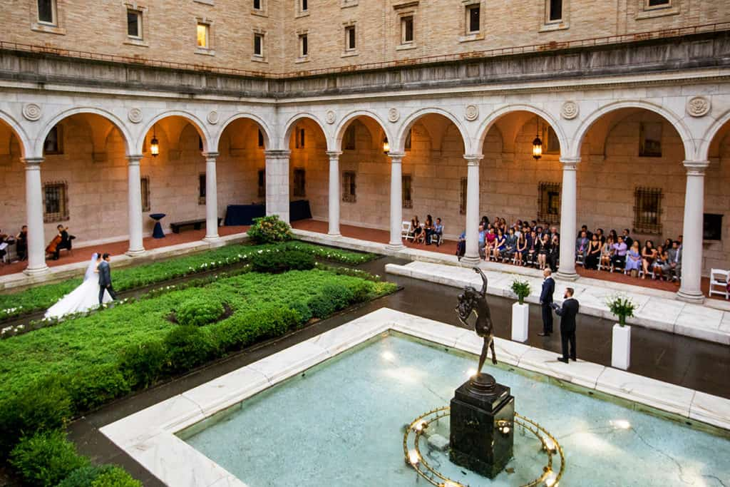 boston public library wedding courtyard