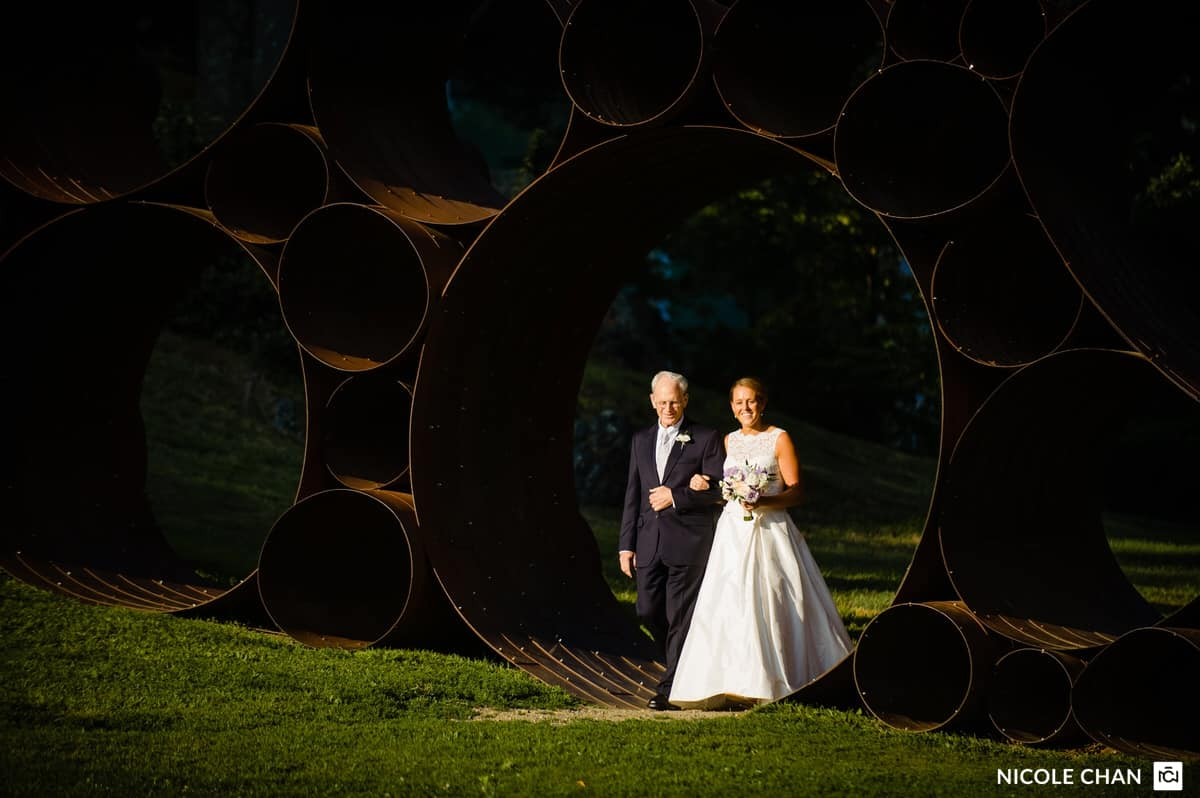 deCordova  Sculpture Park and Museum wedding photography by Nicole Chan Photography, Boston wedding photographer