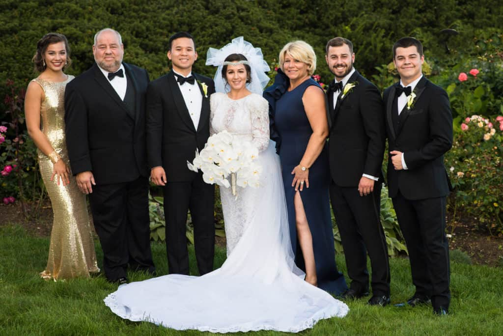 boston wedding family photo