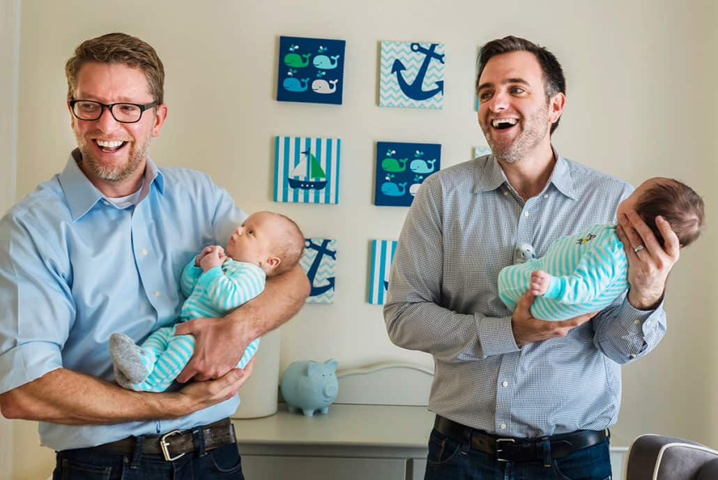 Gay dads Boston newborn photographer by Nicole Chan Photography